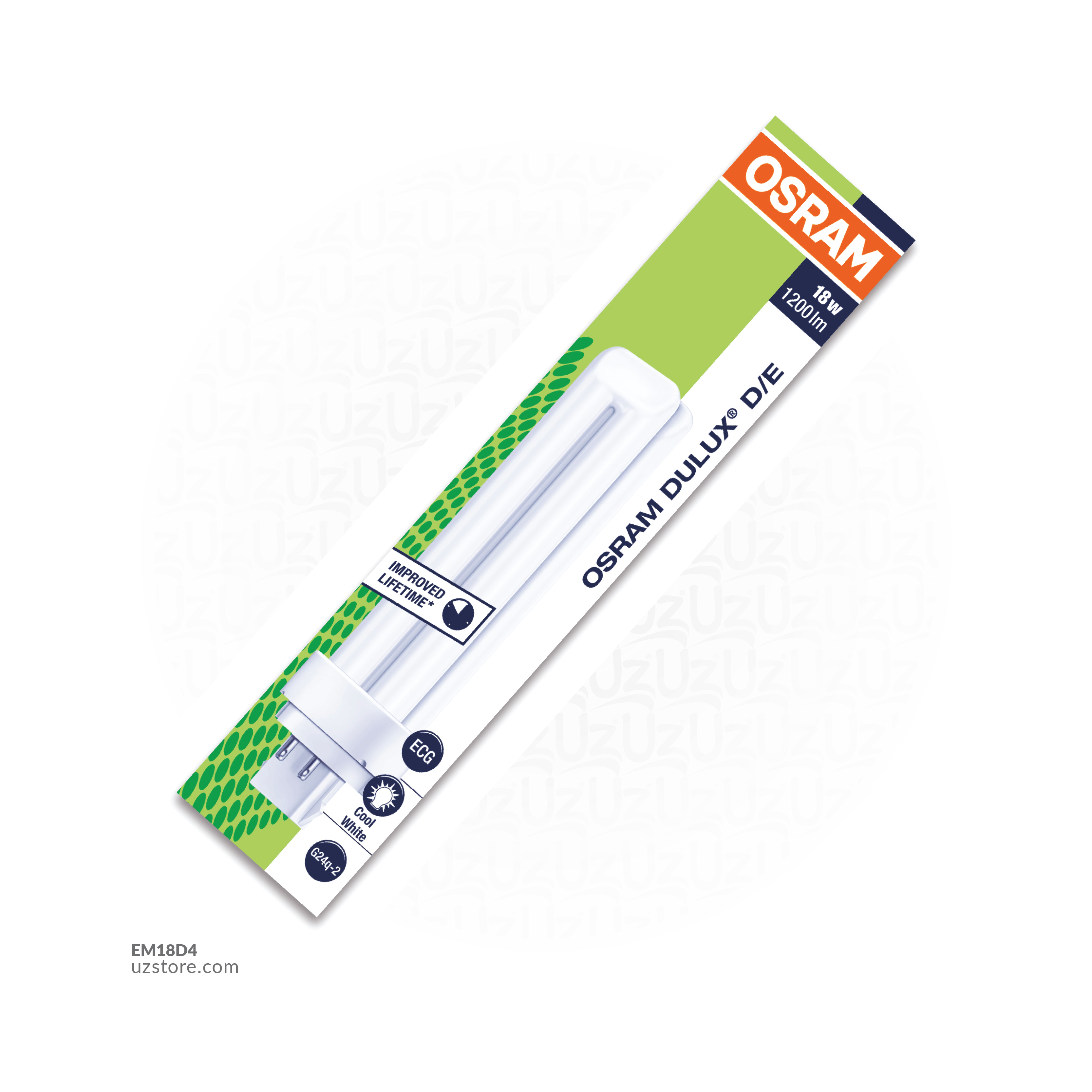 OSRAM DULUX-DE 18W COOL WHITE G24Q-2 4 PIN