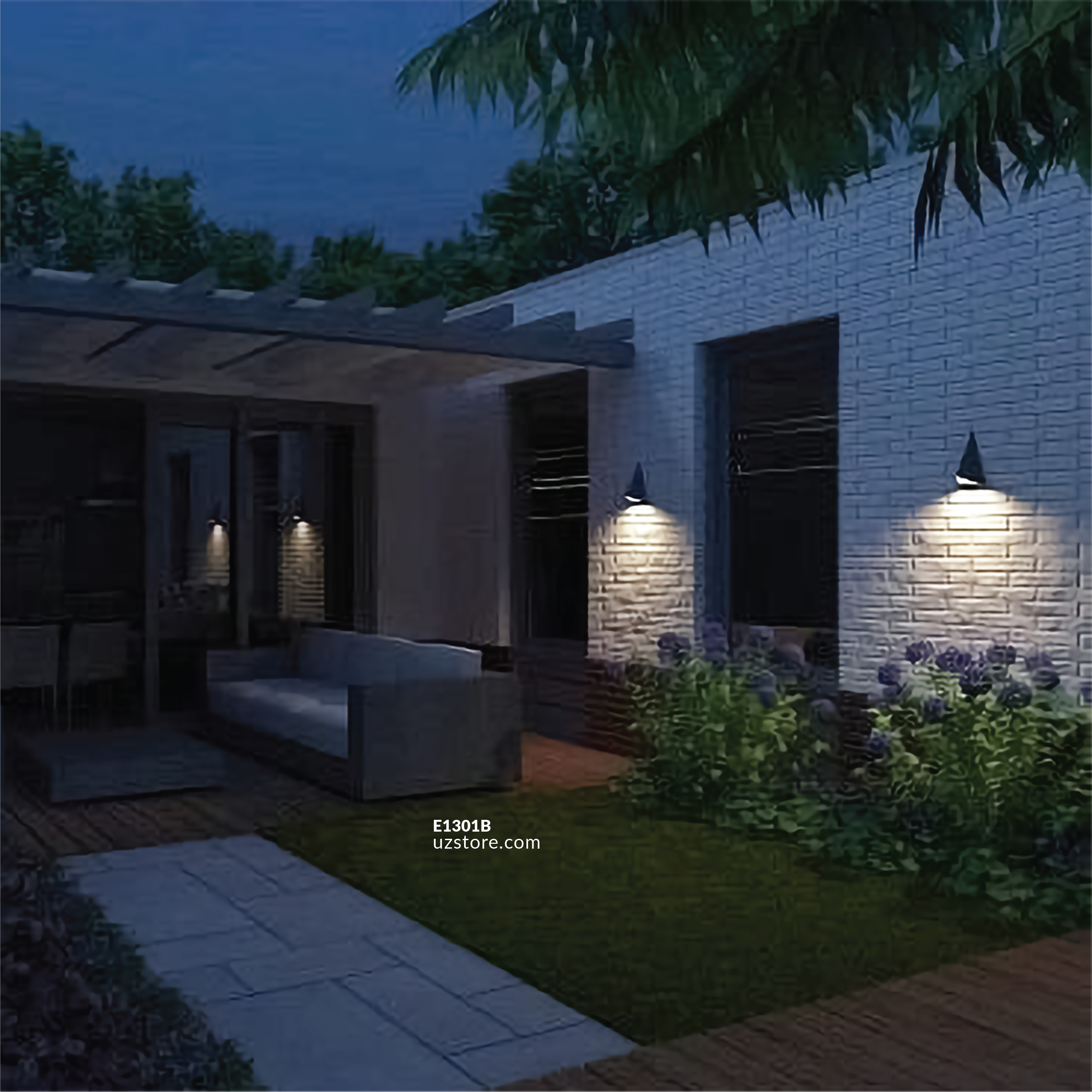 LED Outdoor Wall LIGHT AB-77 WW SILVER