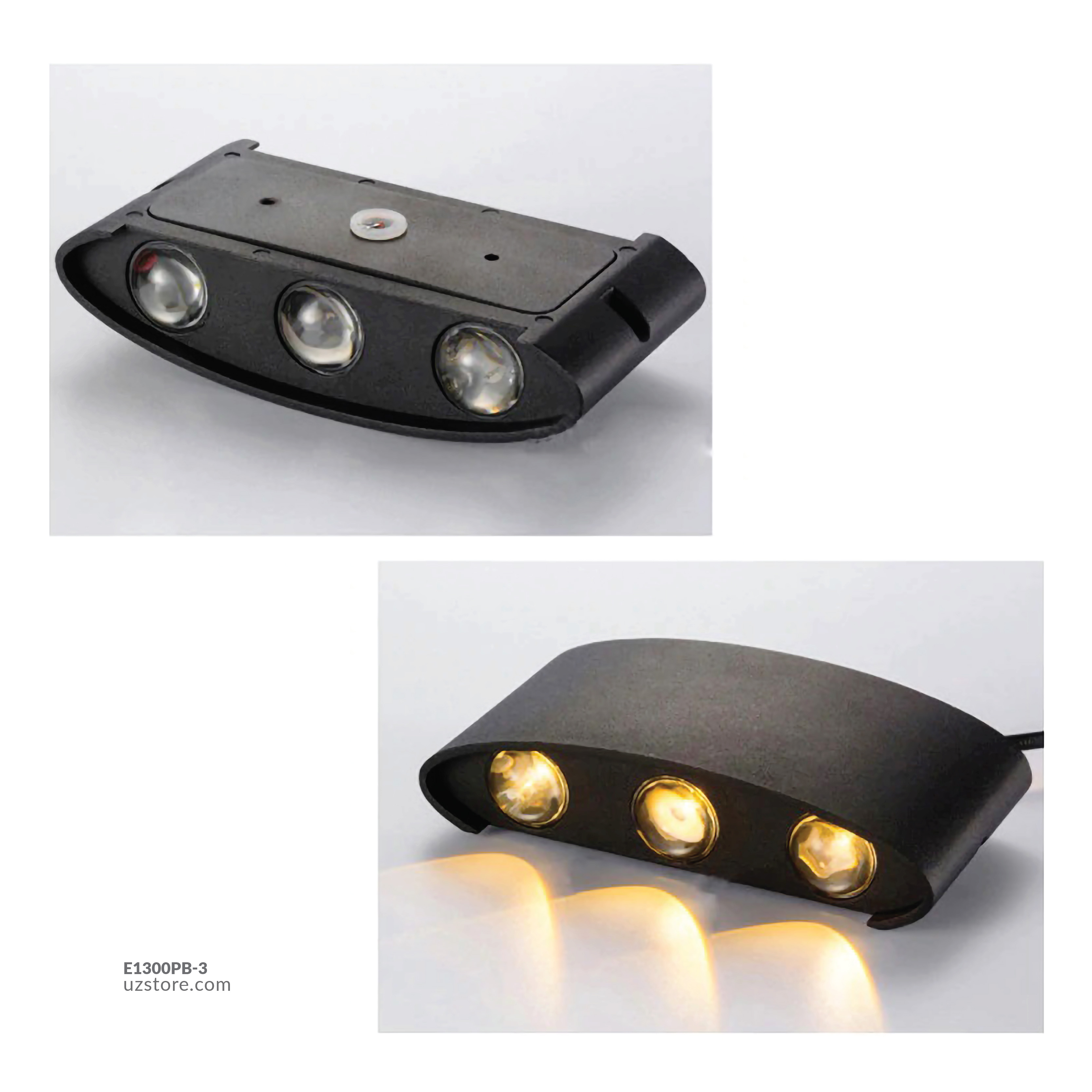 LED Outdoor Wall LIGHT JKF813C-3 6*3W WW BLACK