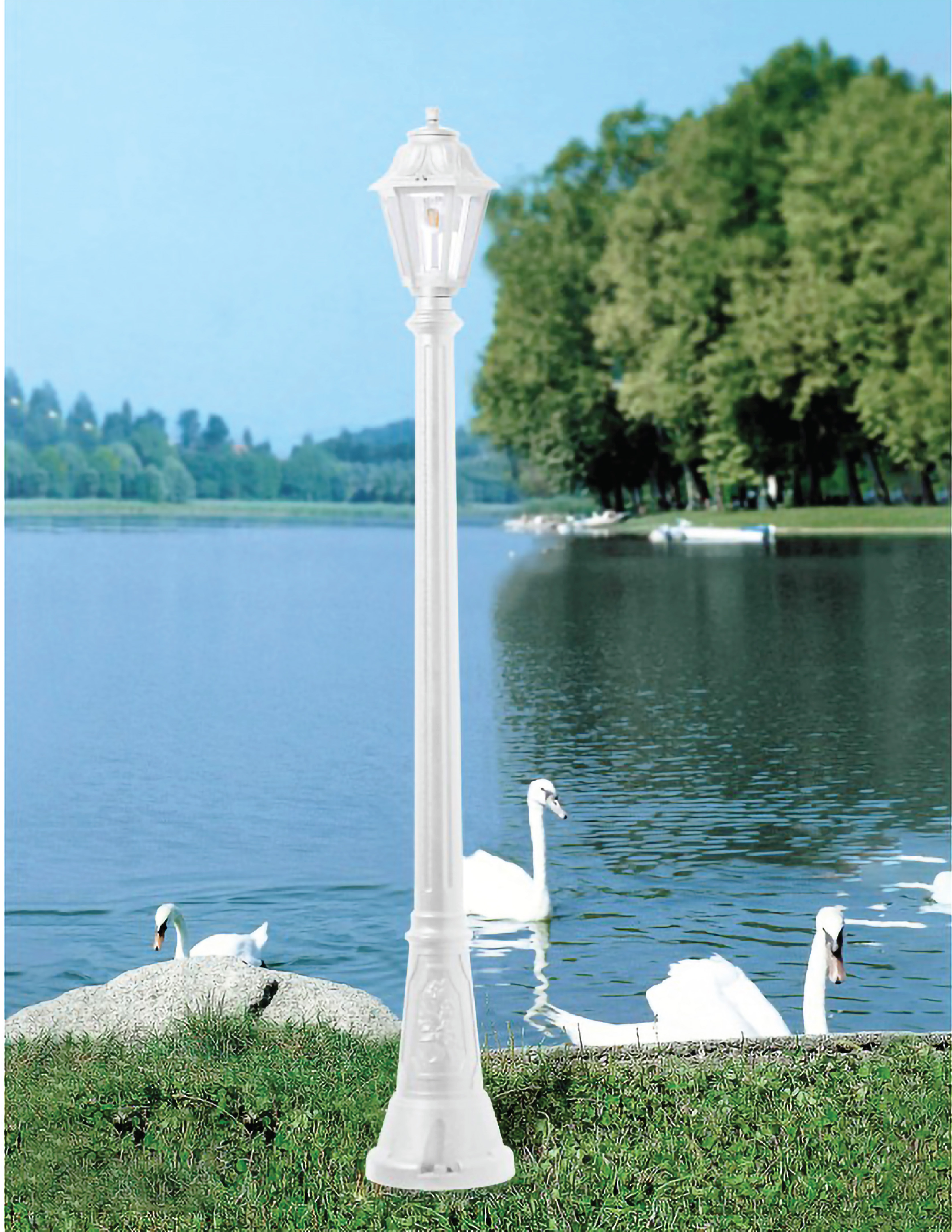 FUMAGALLI ARTU'/ANNA POLE 1820MM CLEAR E27 6W 4000K WH Made in Italy