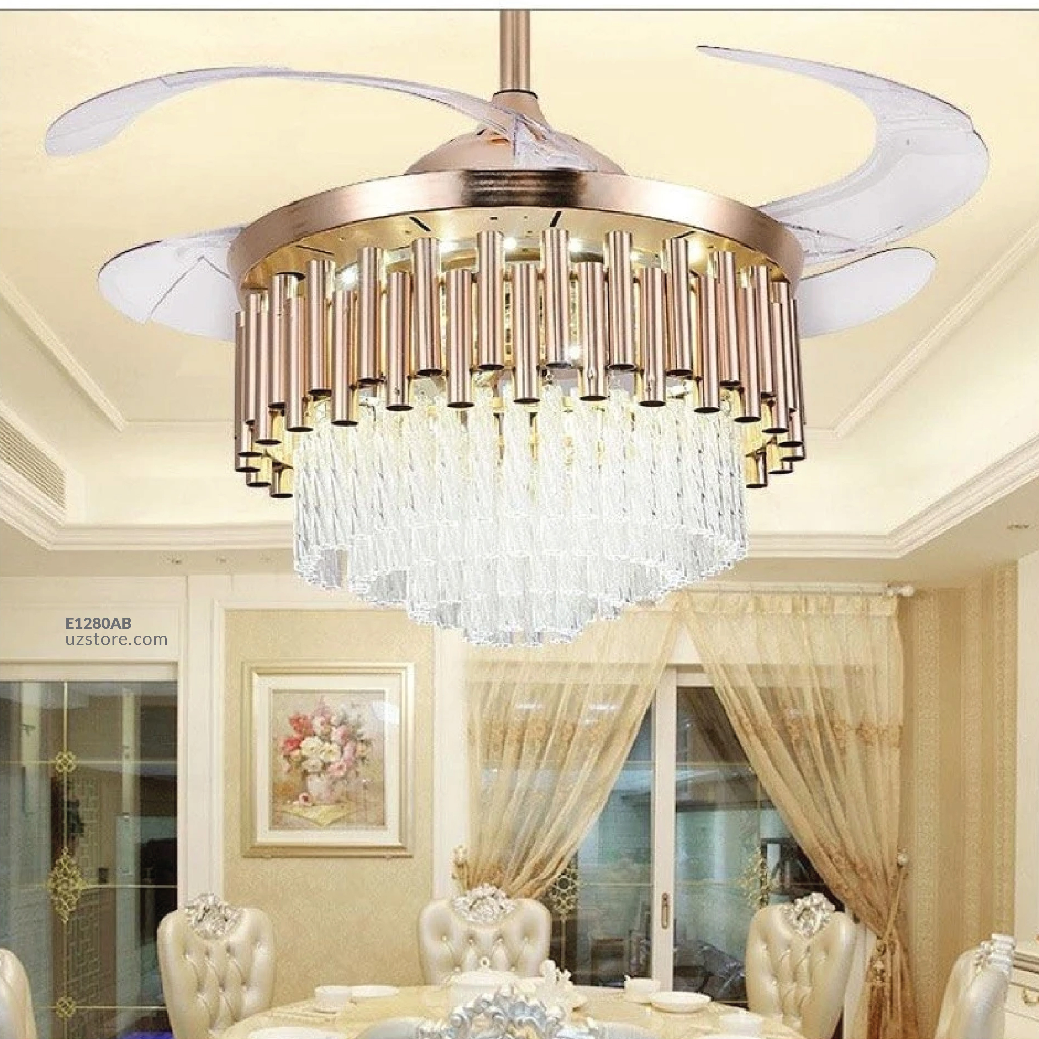 Decorative Fan With LED 3042- 9135