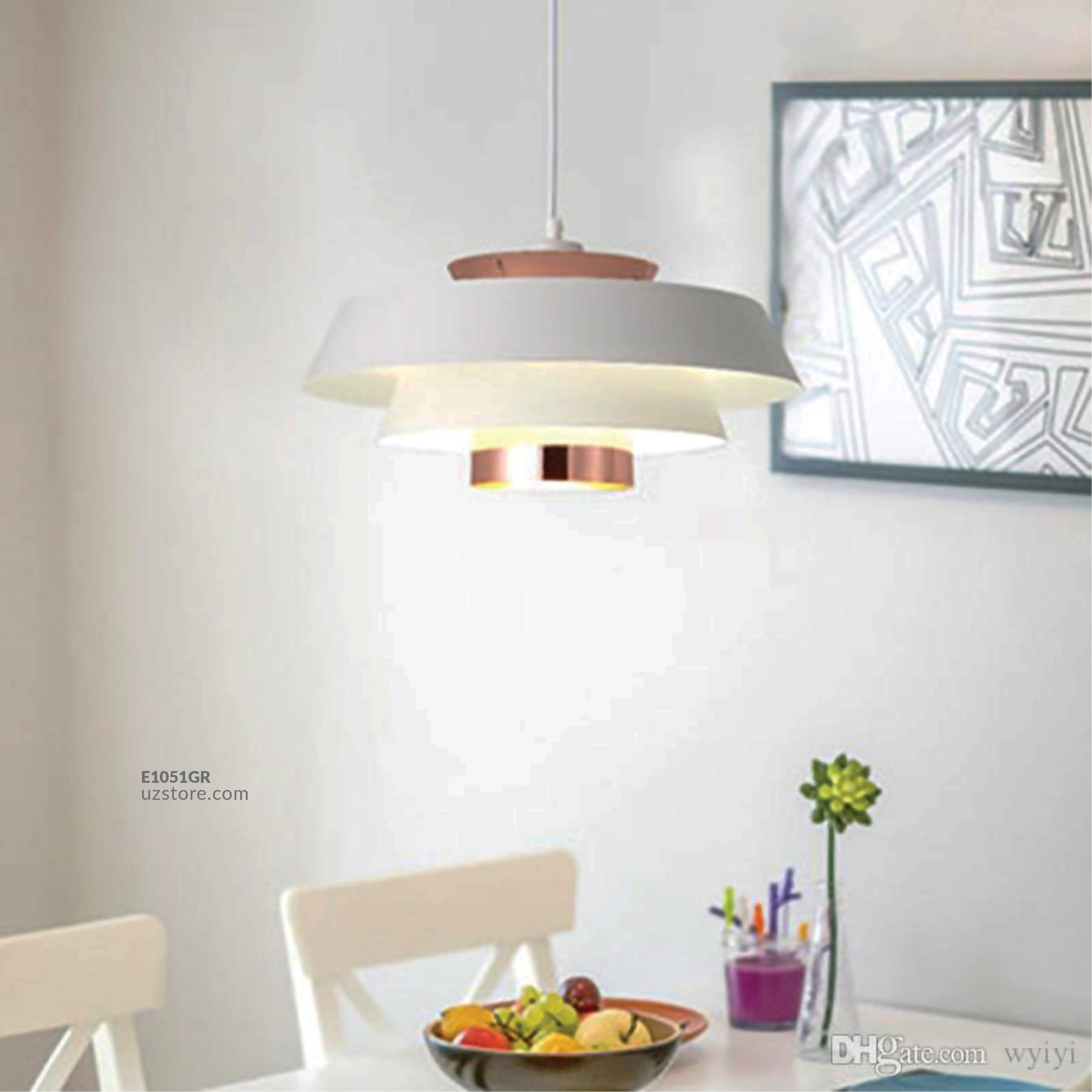 Hanging Light E27 8025/1 WH+ROSE GD