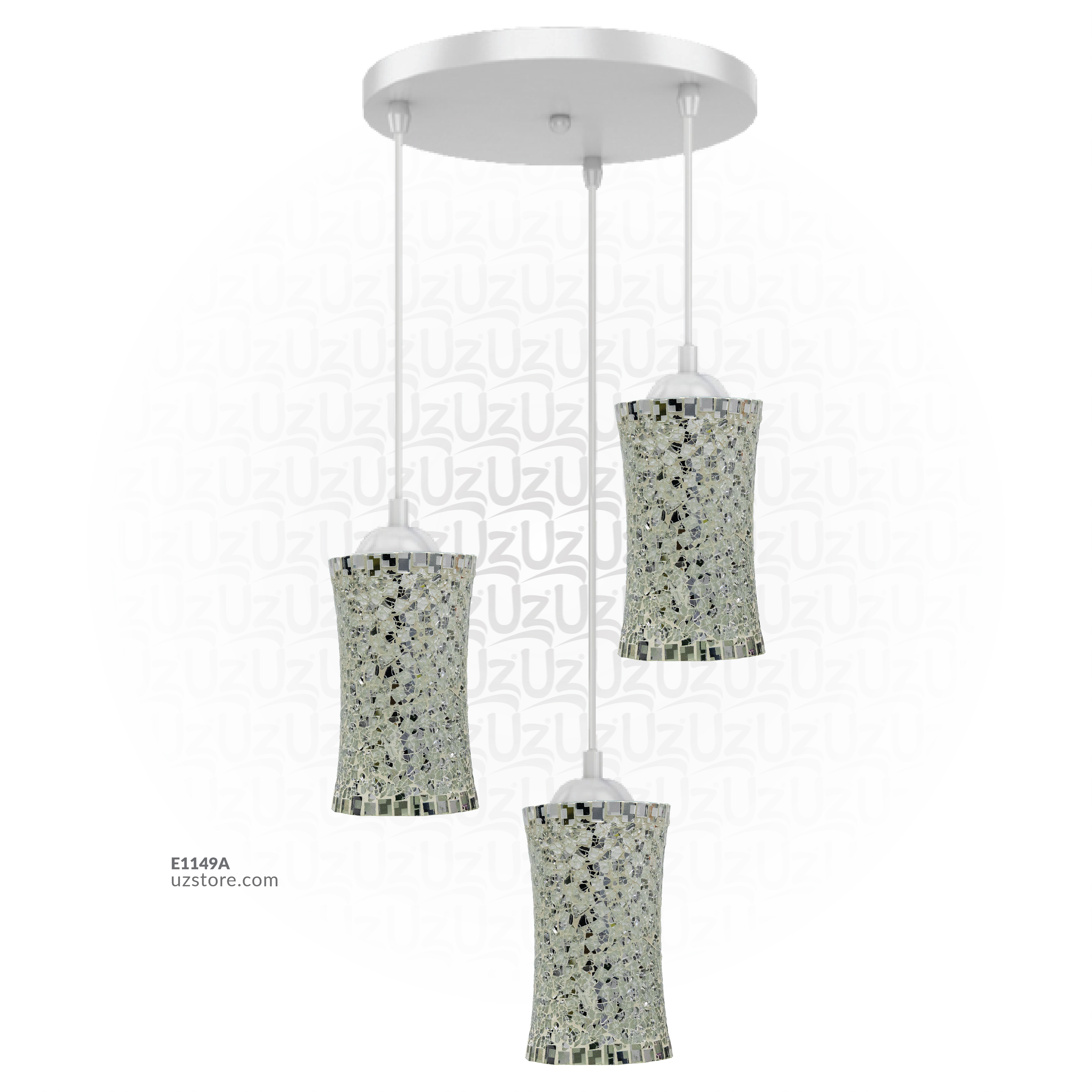 Trible Celling Mosaic Glass Light