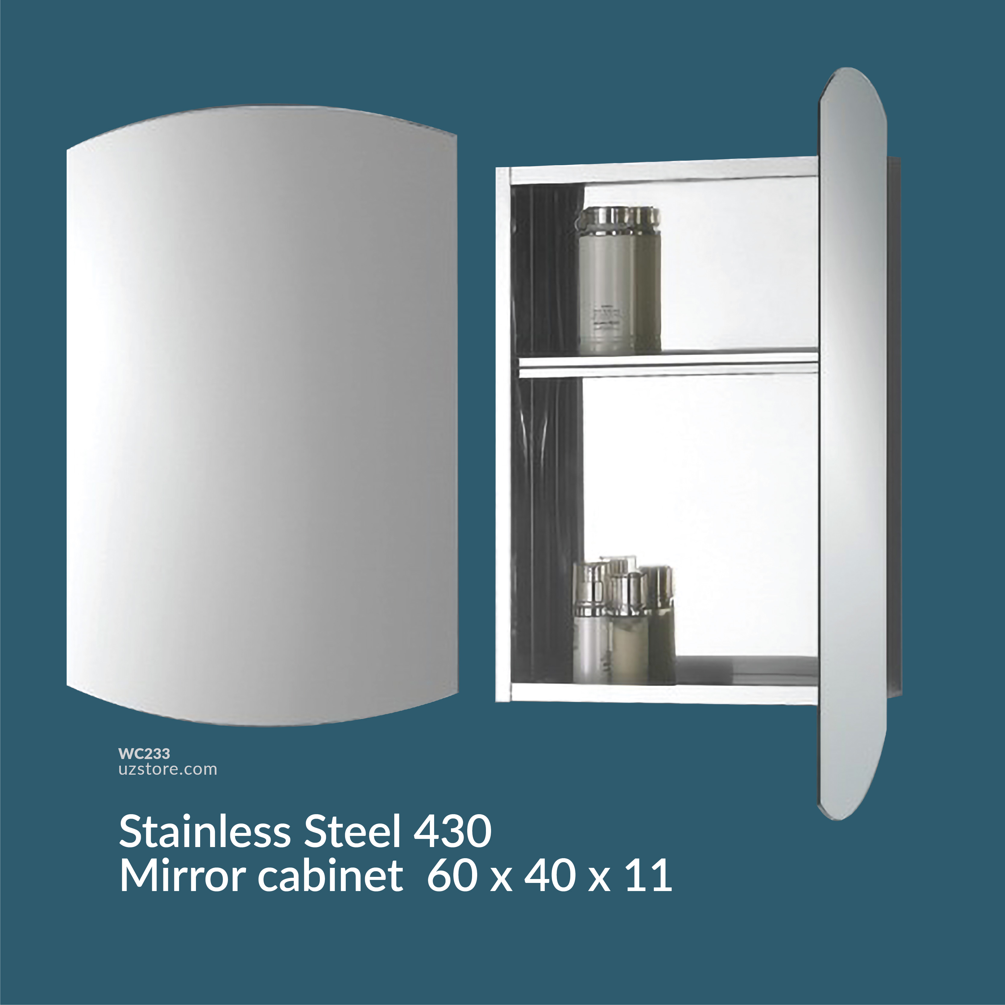 Stainless Steel 430 mirror cabinet ASM-706A 60*40*12