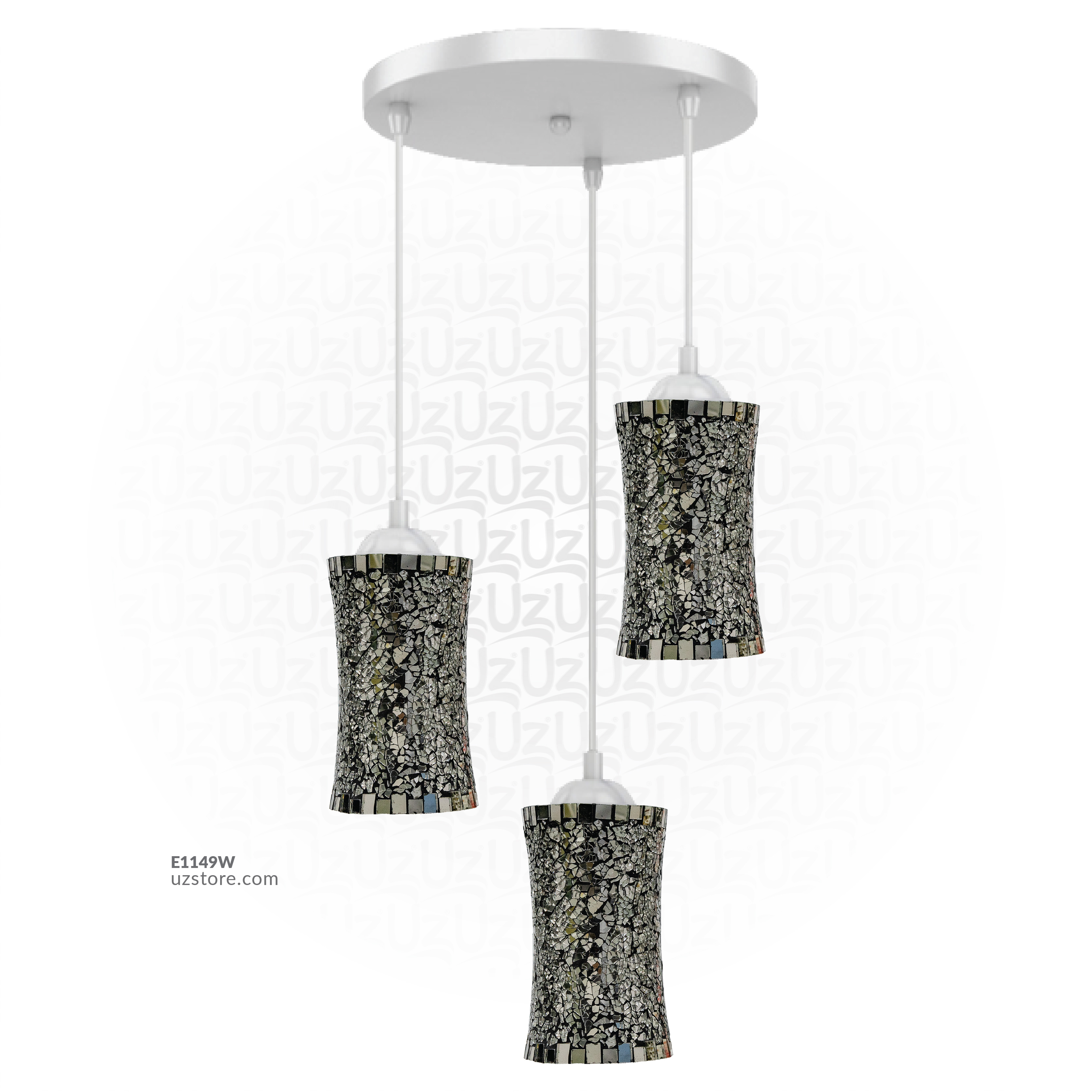 Celling Mosaic Glass light 3way