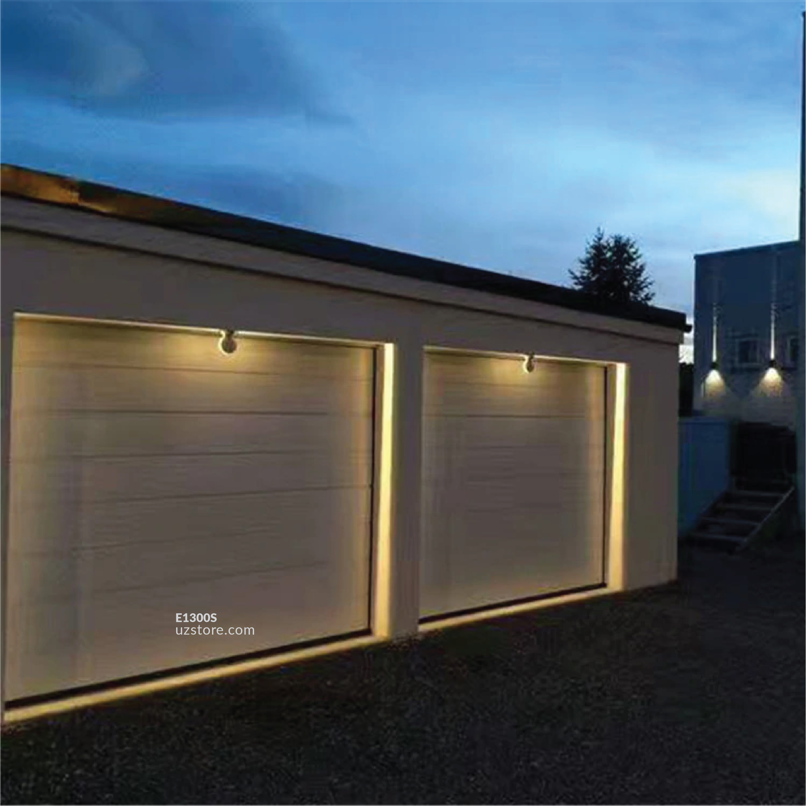 LED Outdoor Wall light H100-9W kori WW Silver  AC85V-265V