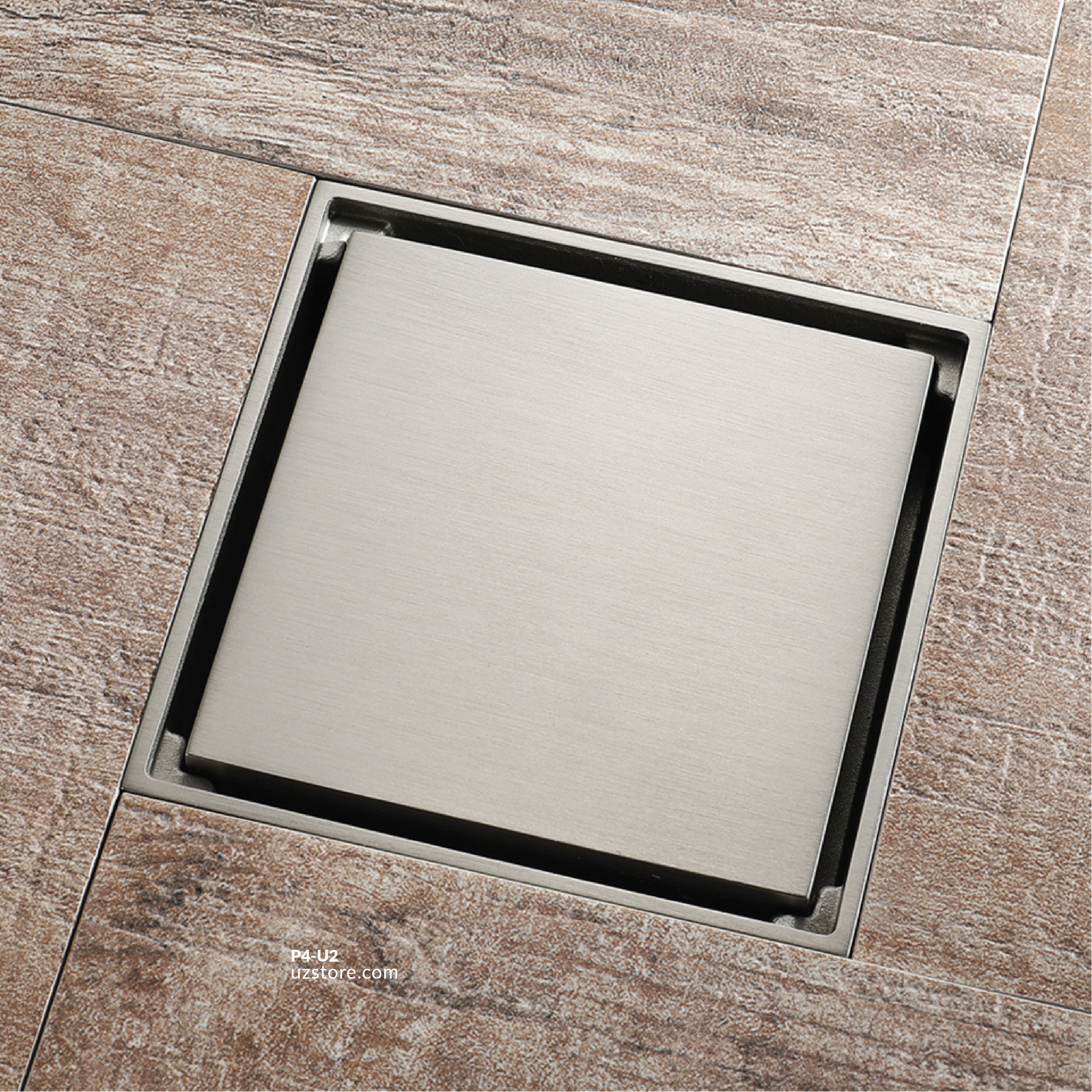 Drawing Color Brass Floor Drain 9873QSN 10*10
