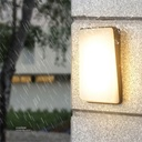 LED Outdoor Wall LIGHT AB-128 WW SILVER