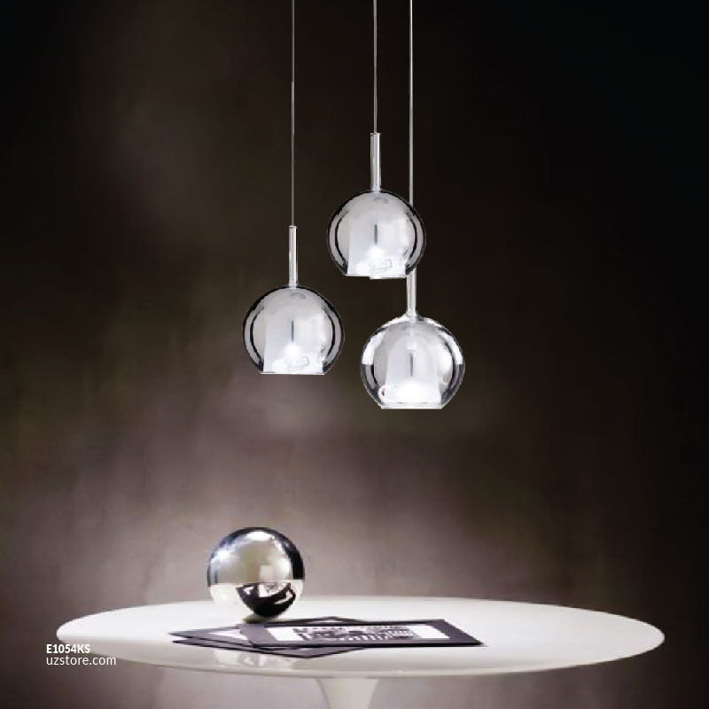 Smoky grey Glass Hanging Light MD3227-130-3 D130