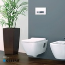 Geberit smyle square wall hung wc white + soft close seat cover GB500.200.01.1+GB500.240.01.1