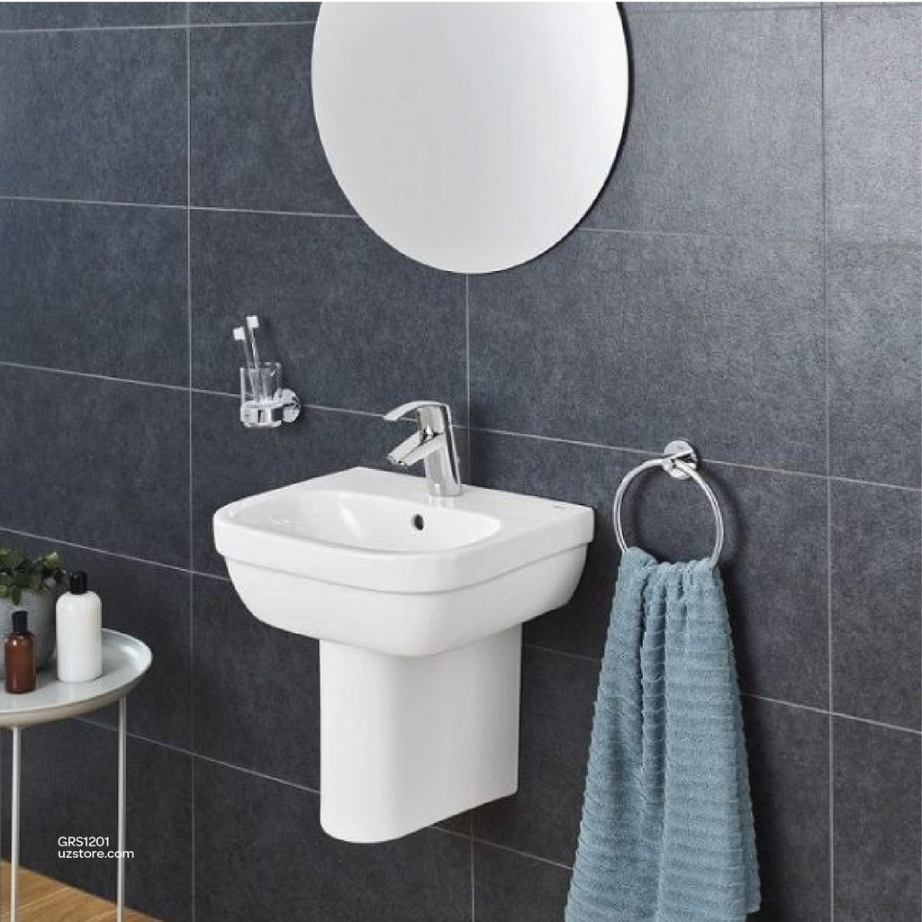 GROHE W/B Bundle 201 ( Wash Basin + Basin Mixer +  2 angle Value )