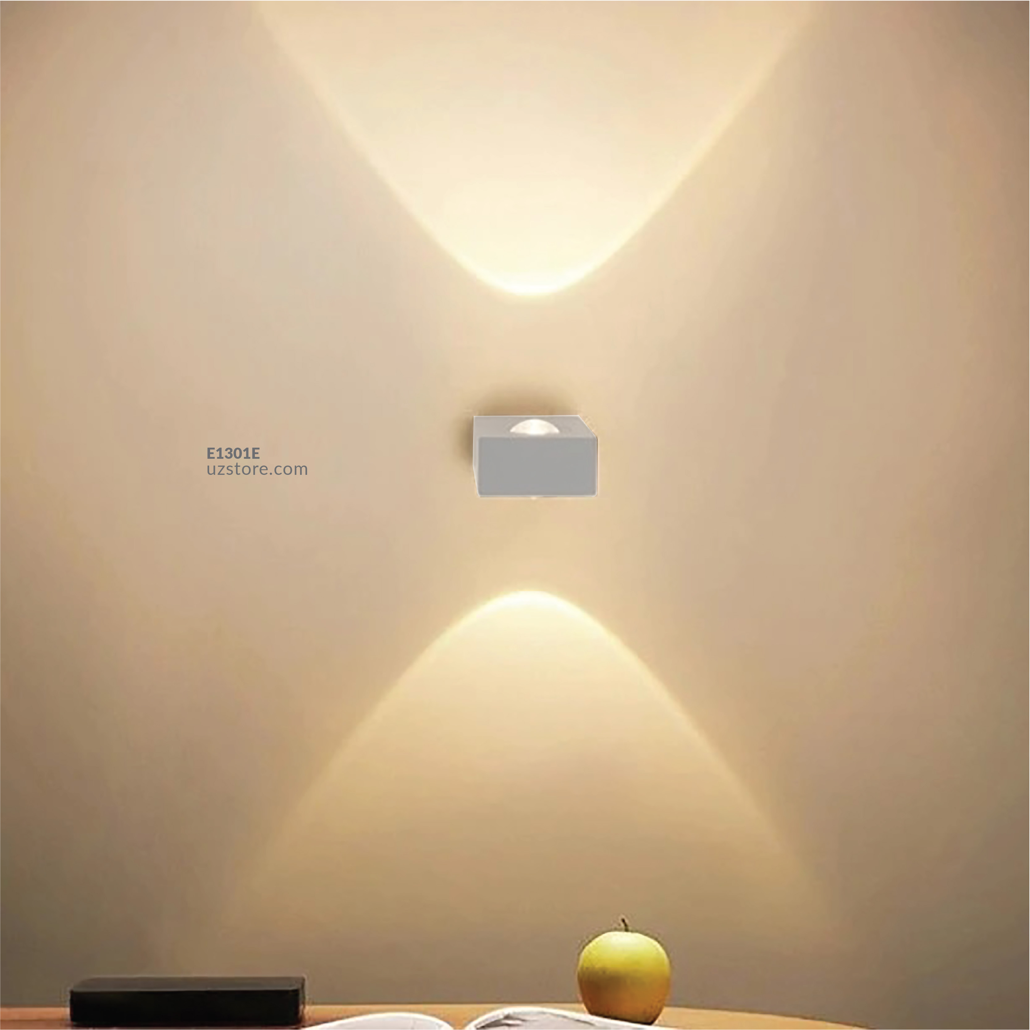 LED Outdoor Wall LIGHT 800-2 WW Silver