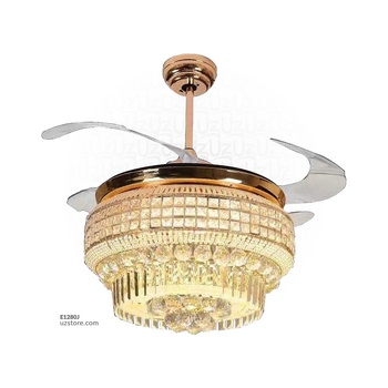 [E1280J] Decorative Fan With LED 3057-F42-3133