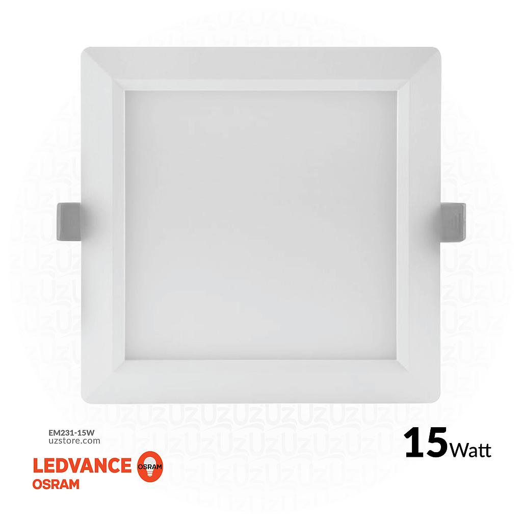 "OSRAM LED SLIM PANEL DOWN LIGHT SQUARE 6"" 15W Warm white 3000K"