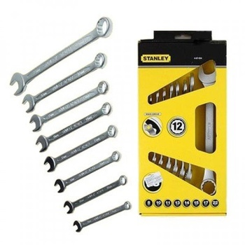 [Ts378] Set of Maxi Drive Plus Combination Spanners 8,10,11,13,14,15,17,22mm 4-87-054