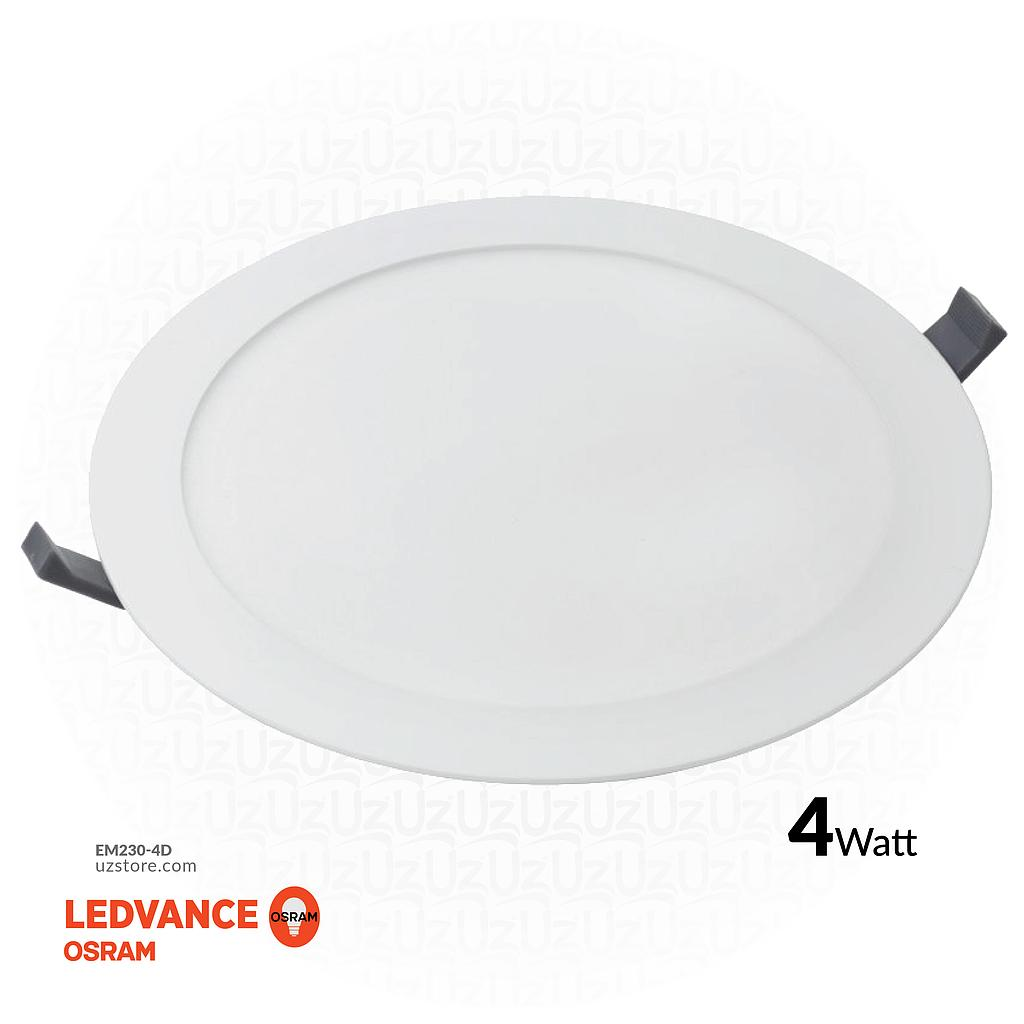"OSRAM LED SLIM PANEL DOWN LIGHT ROUND 3"" 4W Daylight 6500K"