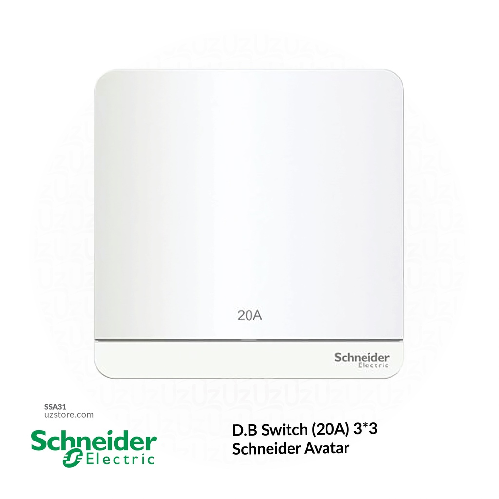 D.B Switch (20A) 3*3 Schneider Avatar