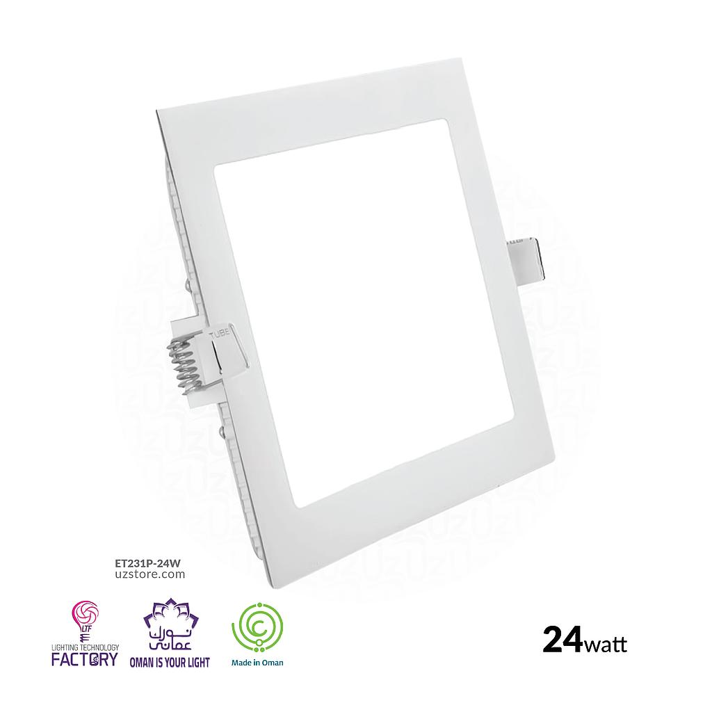 LTF 24W Square Panel light Sigma Warm white