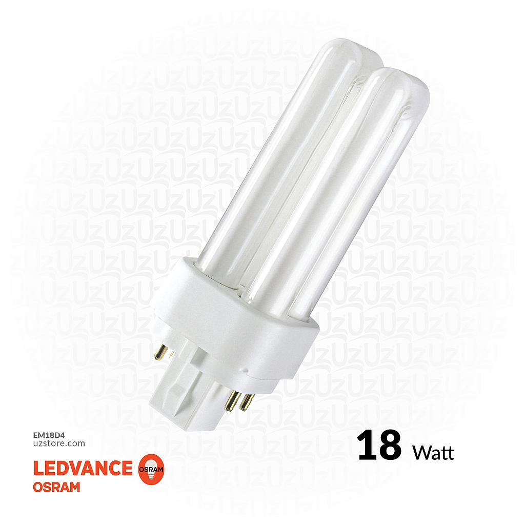 /9OSRAM DULUX-DE 18W COOL WHITE G24Q-2 4 PIN\