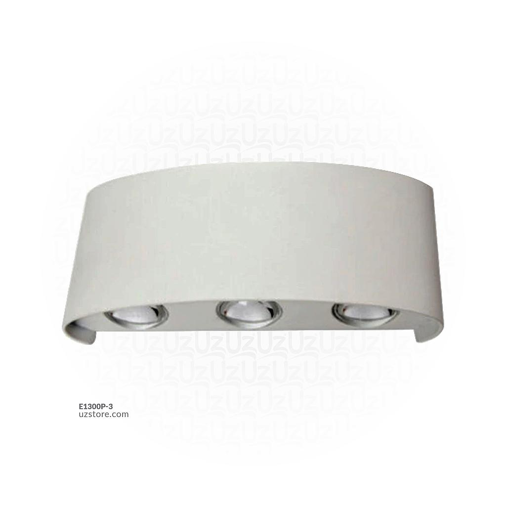 LED Outdoor Wall light 037  6*3W WW Silver  AC85V-265V