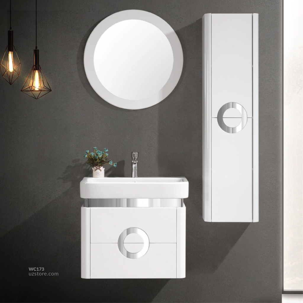 WashBasin Cabinet RF-4563 white 60*47  With Side Cabinet