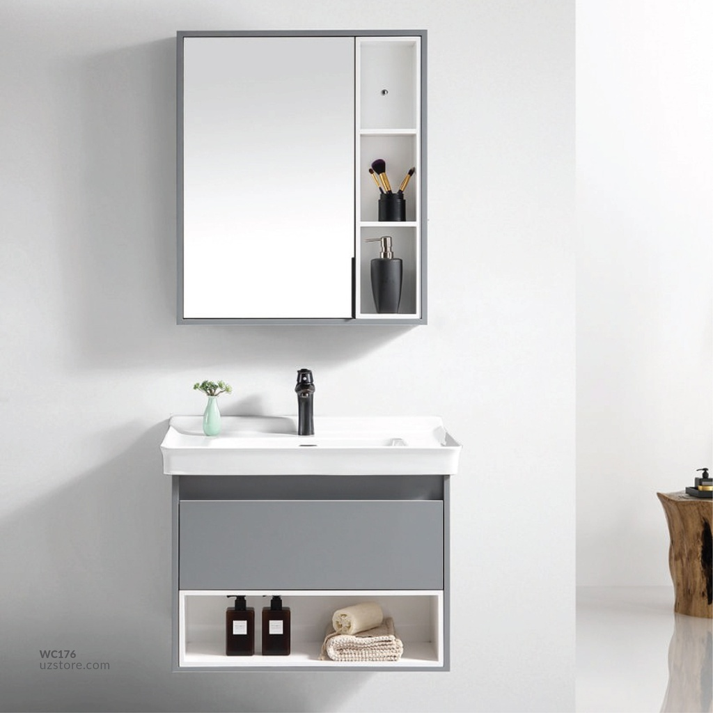 WashBasin Cabinet RF-4458 grey+white 60*47