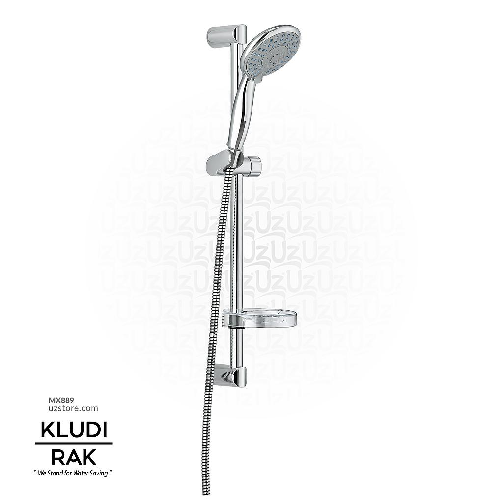 Kludi RAK62002 4S Shower Set (120MM) L=600mm, (Hand Shower + Hose + Bar+ Soap Dish)