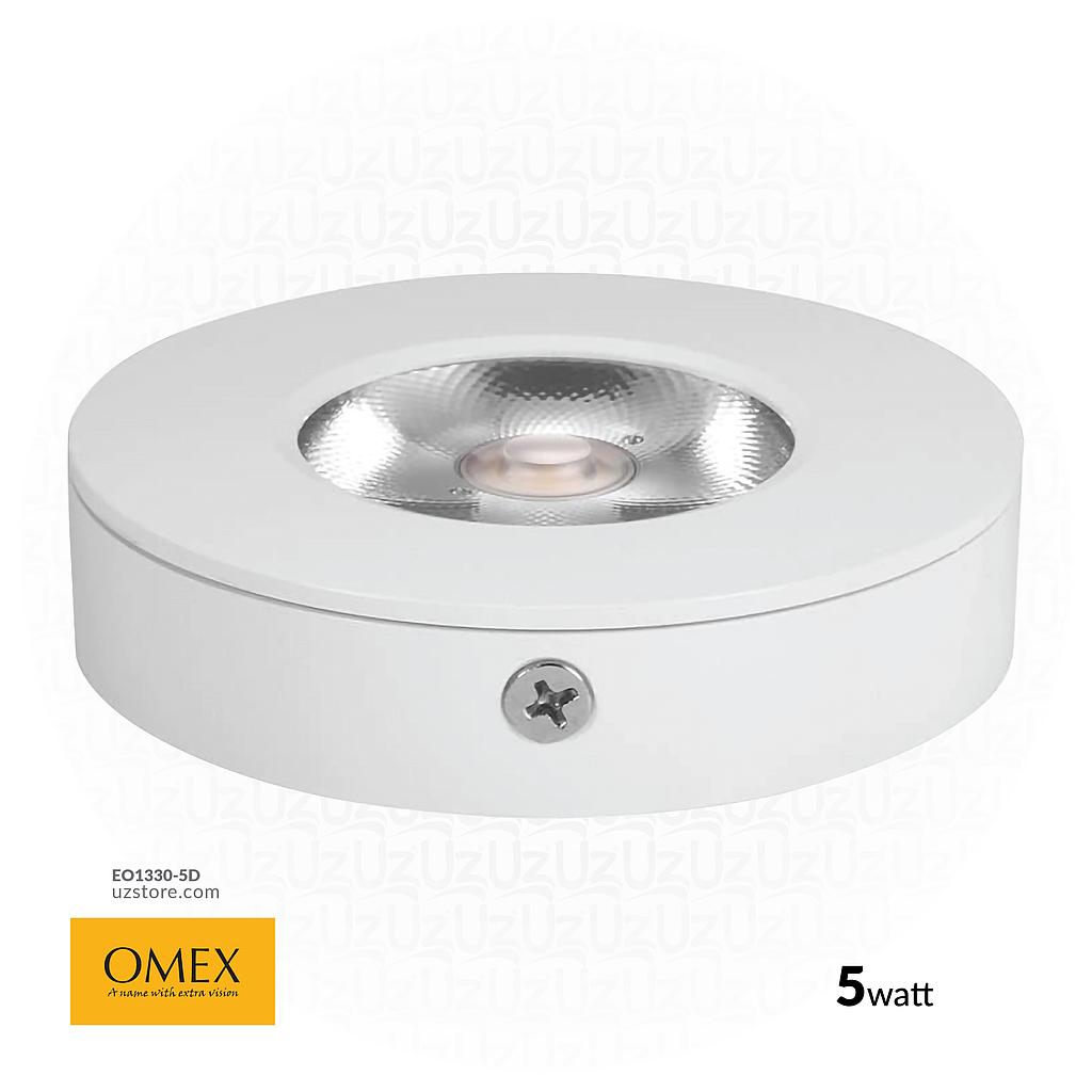 [EO1330-5D] OMEX - Srufac LightLight ROUND 6500k 5W WH
