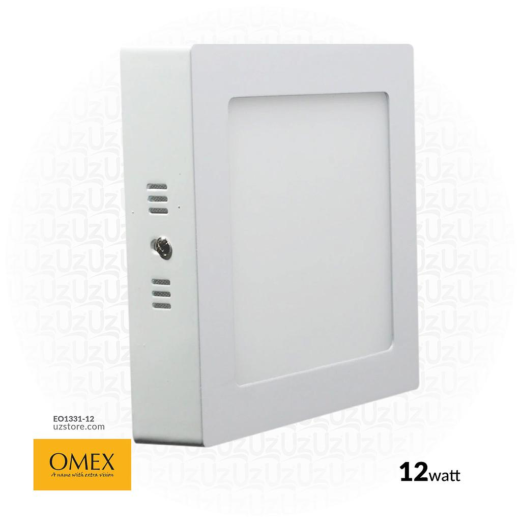 [EO1331-12] OMEX - Srufac LightLight Square 6500k 12W  WH