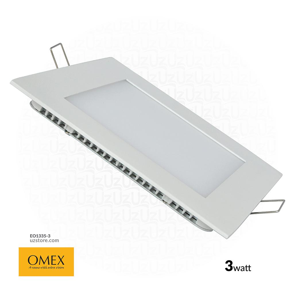 [EO1335-3] OMEX - SQ Slim panle Light Led 3w WH