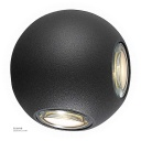 LED Outdoor Wall LIGHT Ball-shaped W842 4*3W WW BLACK AC85V-265V