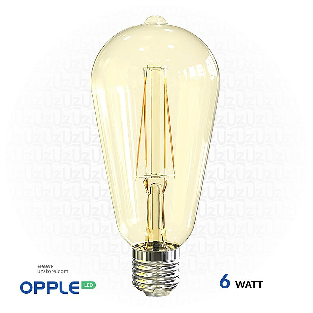 [EP6WF] OPPLE LED Filament Lamp 6W Warm White E27