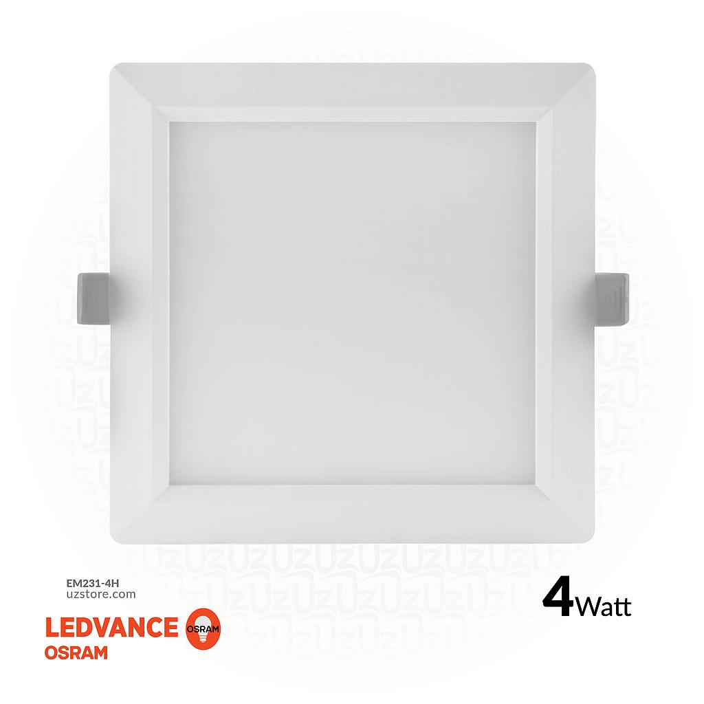 "[EM231-4H] OSRAM LED SLIM PANEL DOWN LIGHT SQUARE 3"" 4W Half white 4000K"