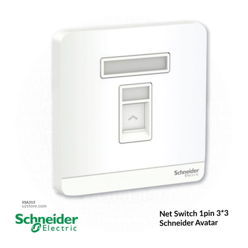 [SSA313] Net Switch 1pin 3*3 Schneider Avatar