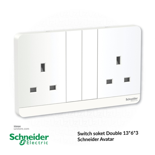 [SSA66] Switch soket Double 13*6*3 Schneider Avatar