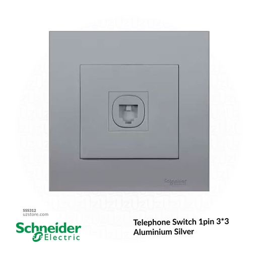 [SSS312] Telephone Switch 1pin 3*3 Schneider Alu. Sliver