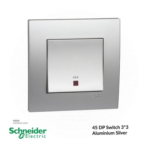 [SSS34] 45 DP Switch 3*3 Schneider Alu. Sliver