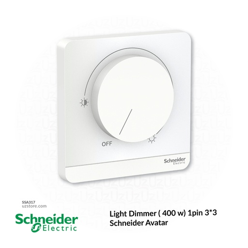 [SSA317] Light Dimmer ( 400 w) 1pin 3*3 Schneider Avatar