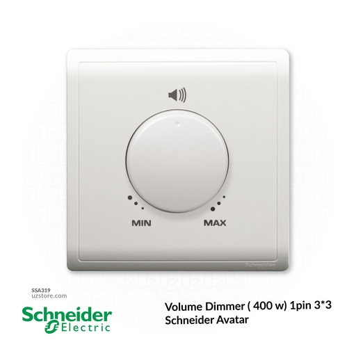 [SSA319] Volume Dimmer ( 400 w) 1pin 3*3 Schneider Avatar