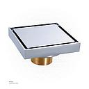 Chrome Color Brass Floor Drain 9873QCP 10*10