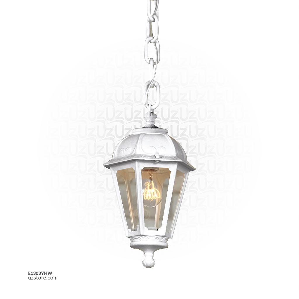 [E1303YHW] FUMAGALLI SICHEM/SABA HANGING CLEAR E27 WH Made in Italy