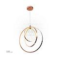 LED Hanging Light Three Rings 860604/3P Rose gold 80W AC165-265V