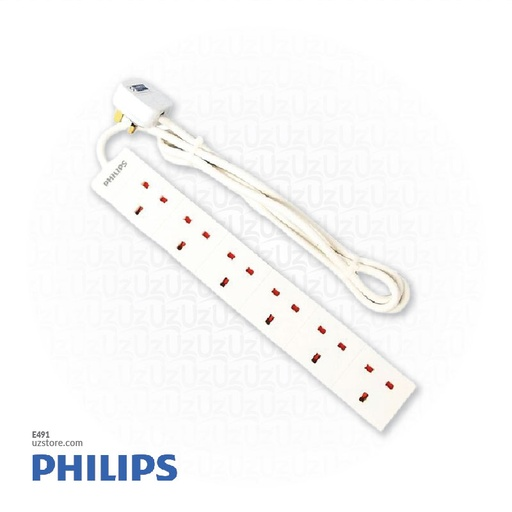 [E491] Extension bar with wire1.8m 6way Philips